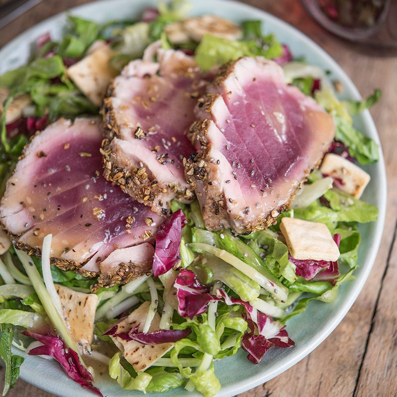 Asian Ginger Chopped Salad & Seared Tuna