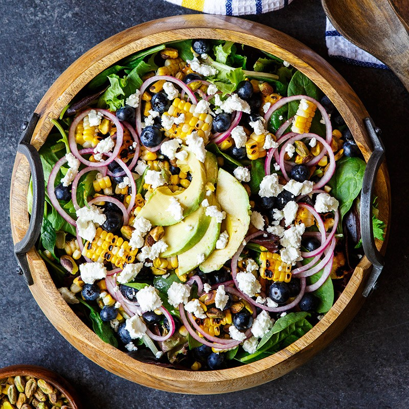 Corn, Blueberry, And Goat Cheese Salad