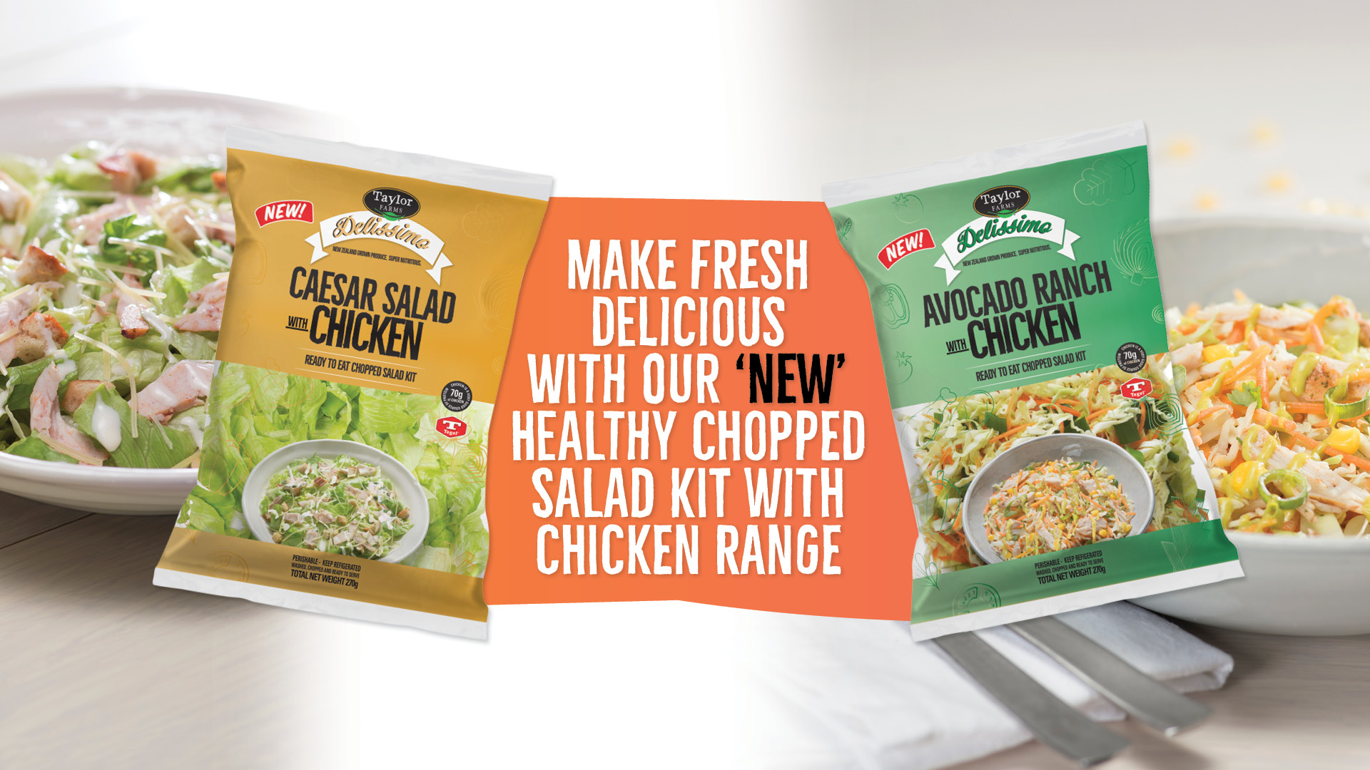 Make fresh delicious with our new healthy chopped salad kit with chicken range